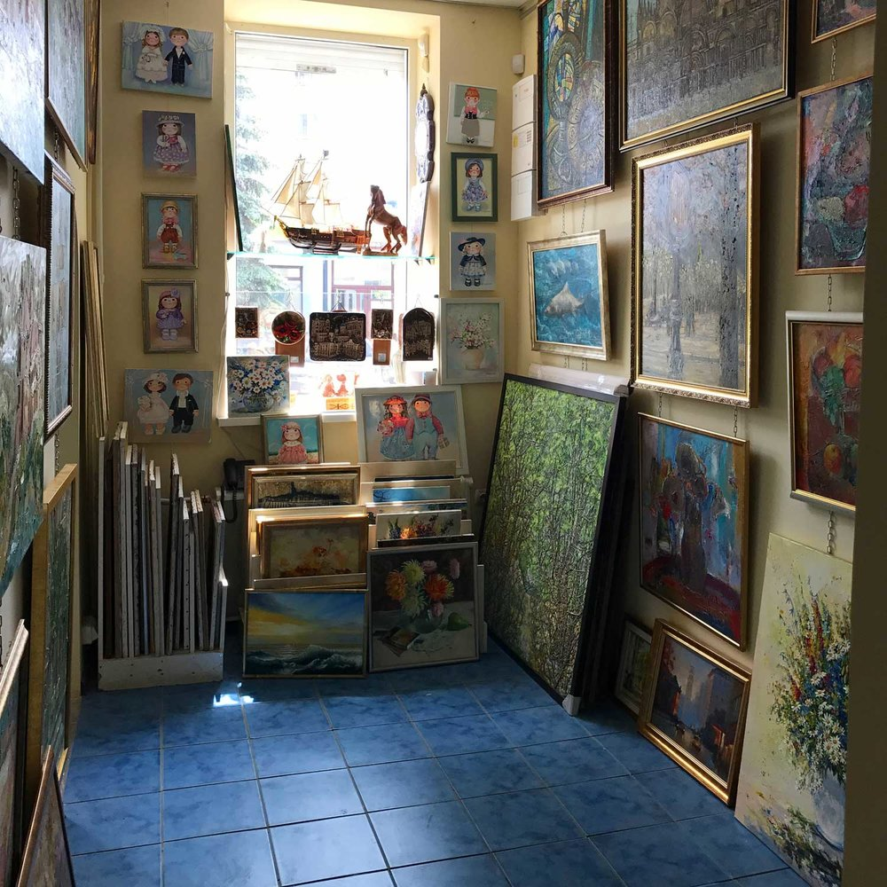 There are, of course, good things in Khmelnitskyy, like this little art gallery we wandered into.