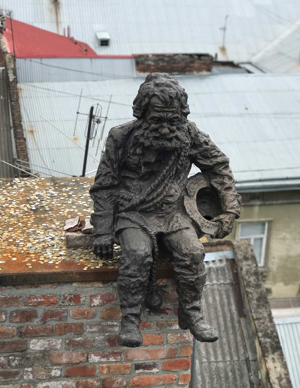 The Chimney Sweep monument.