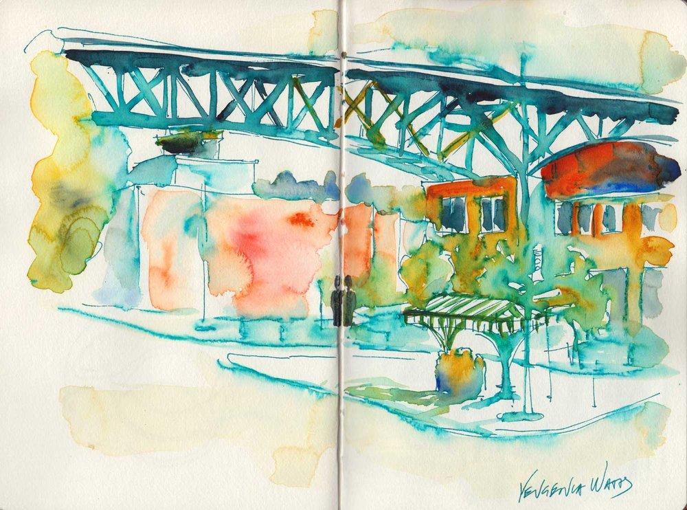Fremont Bridge.