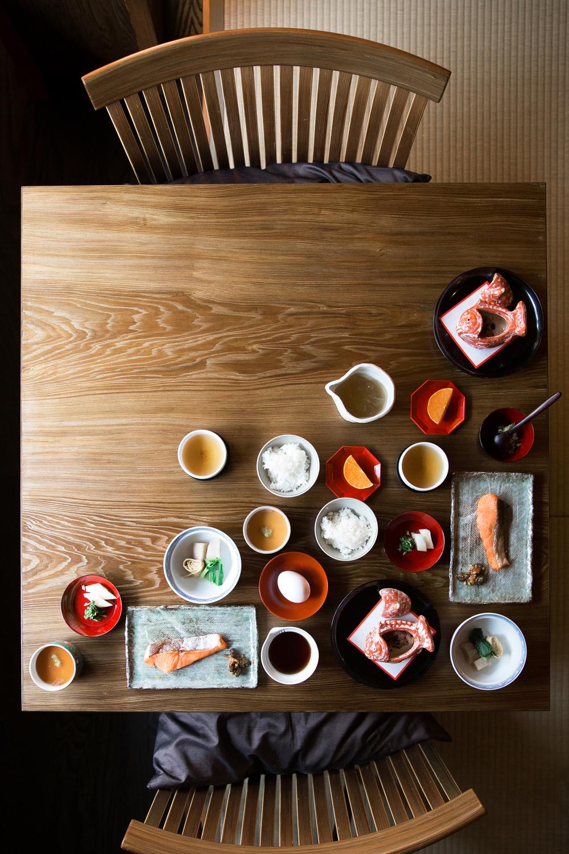 Japanese Breakfast,  Hoshinoya Kyoto .