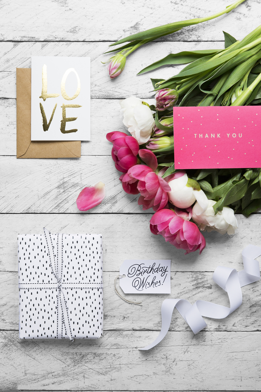 Cards, Wrapping Paper & Gift Tag from ELM Paper.