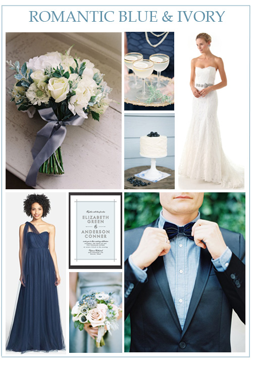 Romantic Blue & Ivory Wedding Inspiration — LINDSEY BRUNK | Event ...