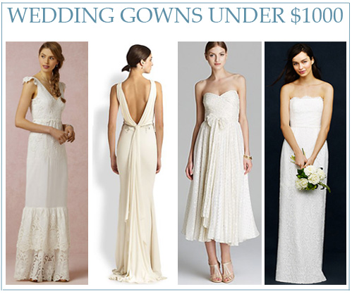 Wedding Gowns Under $1000