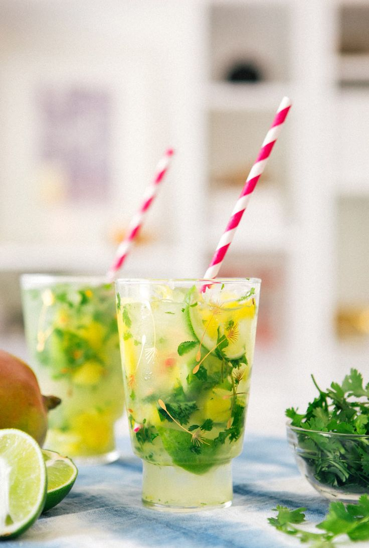 Mango Cilantro Mojitos from A House in the Hills