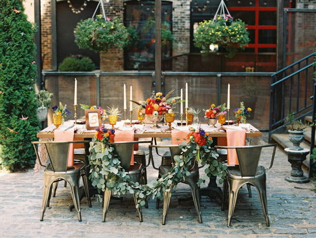 Tablescape from  A Splendid Occasion  by  Kina Wicks  via  Green Wedding Shoes