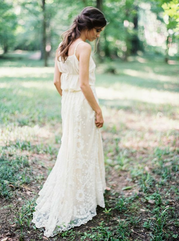 Gossamer Vintage gown  from  Brushfire Photography  via  Once Wed