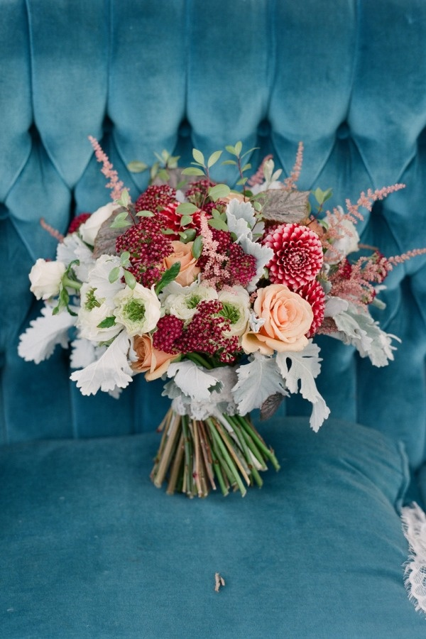 Kristajon Floral Design bouquet by Elizabeth Messina via Style Me Pretty