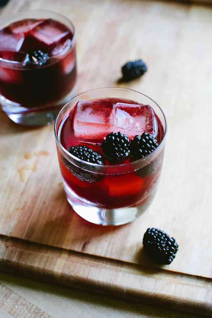Blackberry Gin & Tonic via A Thought For Food