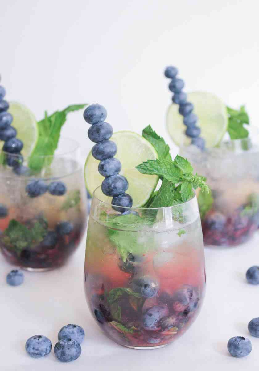 Blueberry Mojito Royale via Domesticate Me