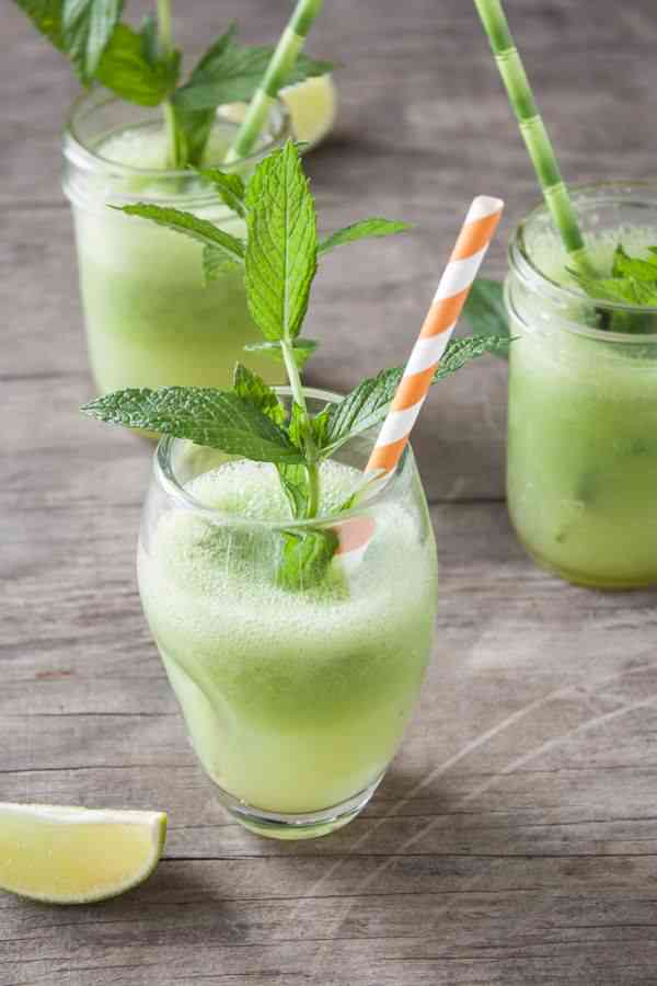 Cucumber-Lime Vodka Shooters from Dishing Up the Dirt
