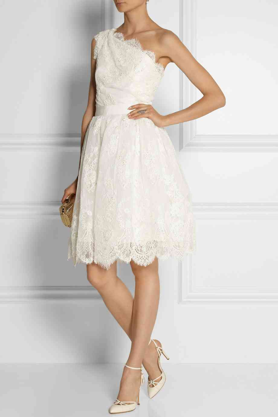 Marchesa one shoulder dress via Net-a-Porter