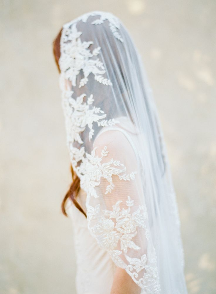 SIBO Designs  veil by  Brumley & Wells  via  Style Me Pretty