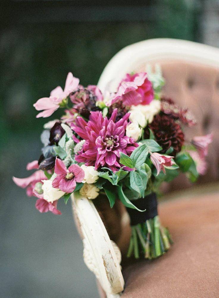Poppies & Posies bouquet by Jen Huang via Style Me Pretty
