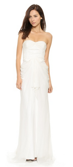 Badgley Mischka Collection Lace Corset gown, $880