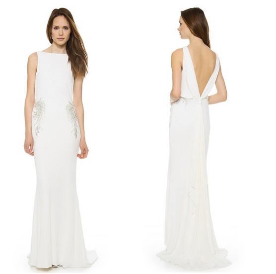 Badgley Mishka Collection Drape Back Loop Dress, $990
