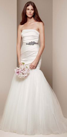 White by Vera Wang gown, $928