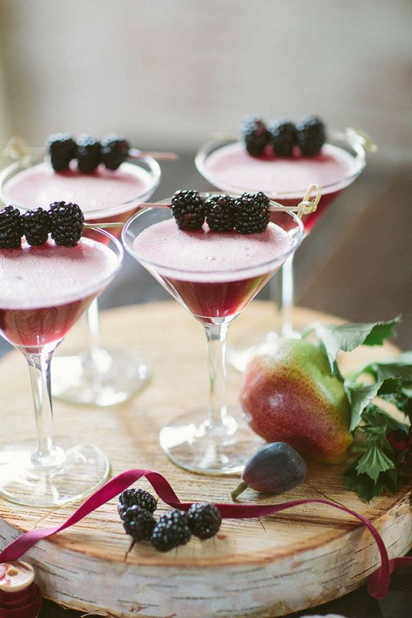 Blackberry cocktails  by  Allan Zepeda