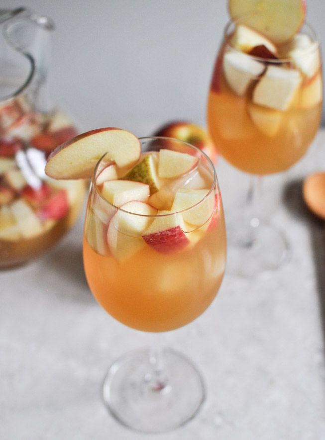 Apple Cider Sangria from How Sweet Eats