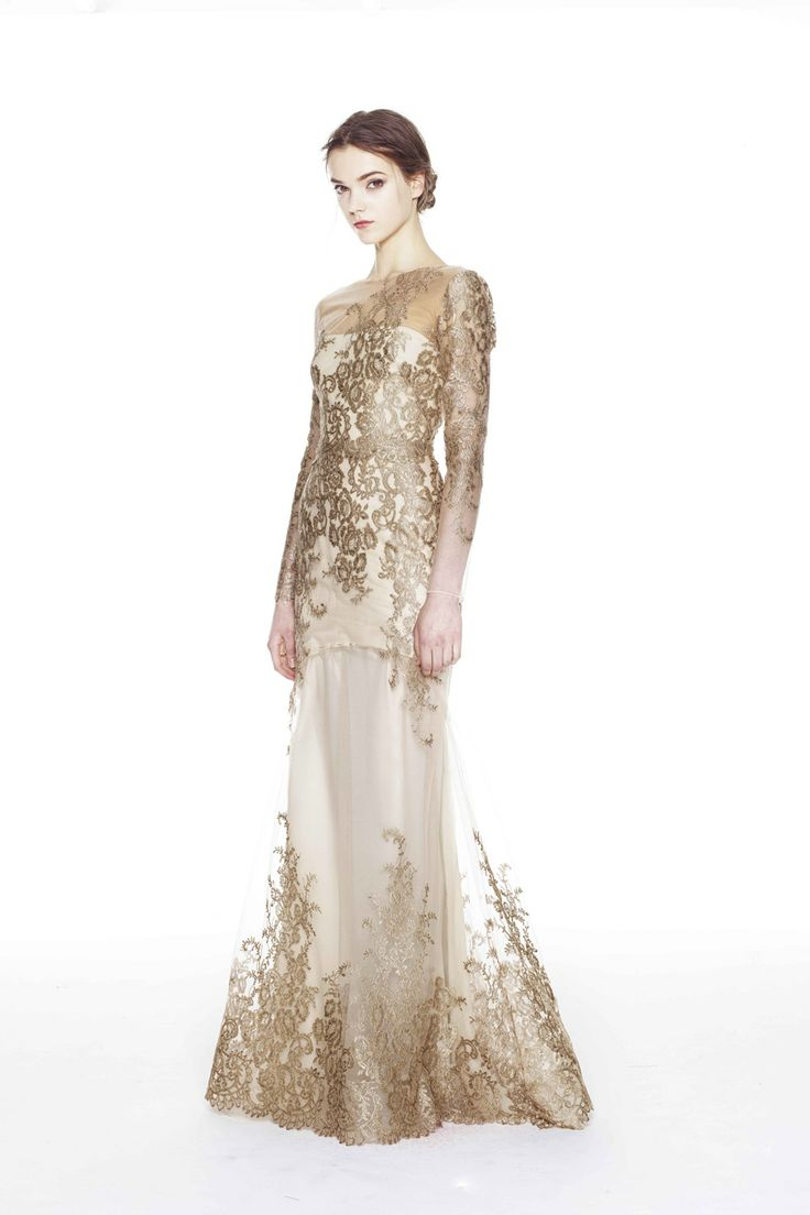 Marchesa gold gown