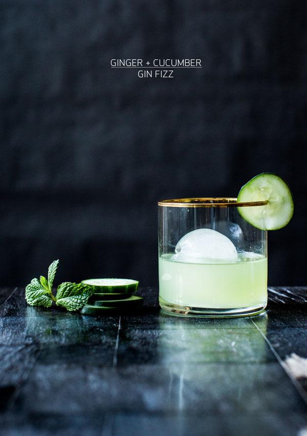 Ginger + cucumber fizz