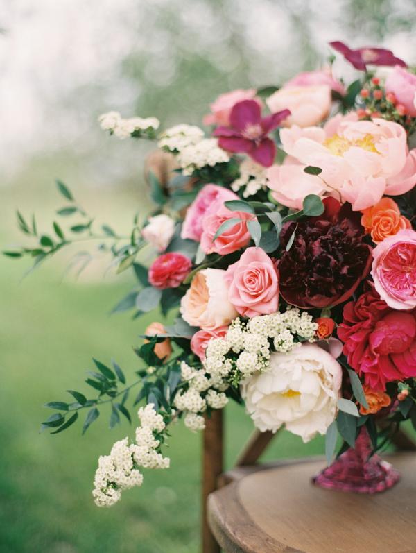 Violet Floral Design  centerpiece from  Sara Hasstedt