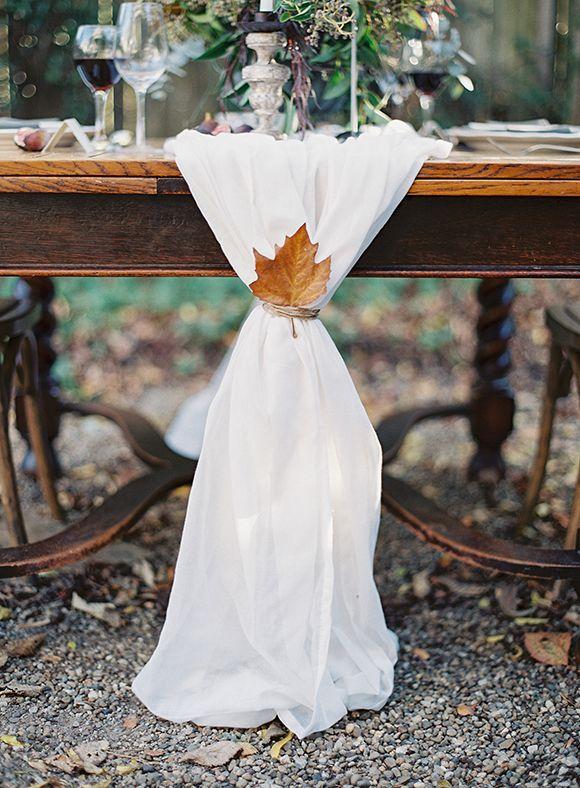 Fall leaf detailing