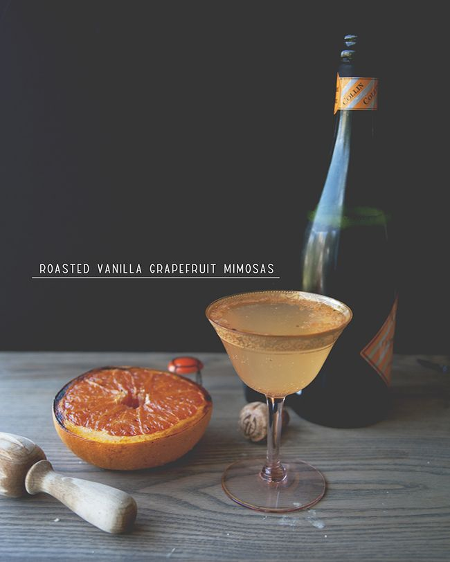 Roasted Vanilla Grapefruit Mimosa
