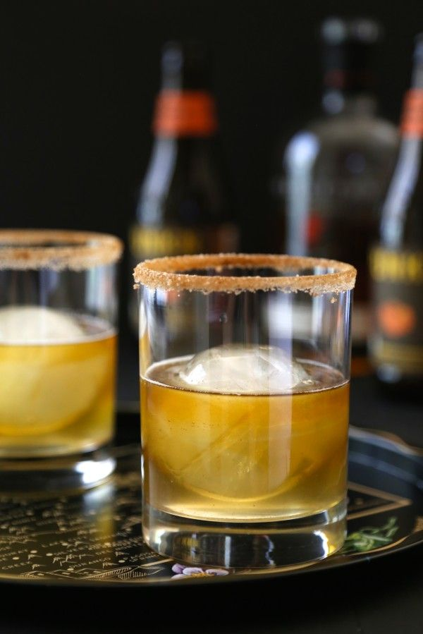 Ginger Pumpkin Bourbon Fizz