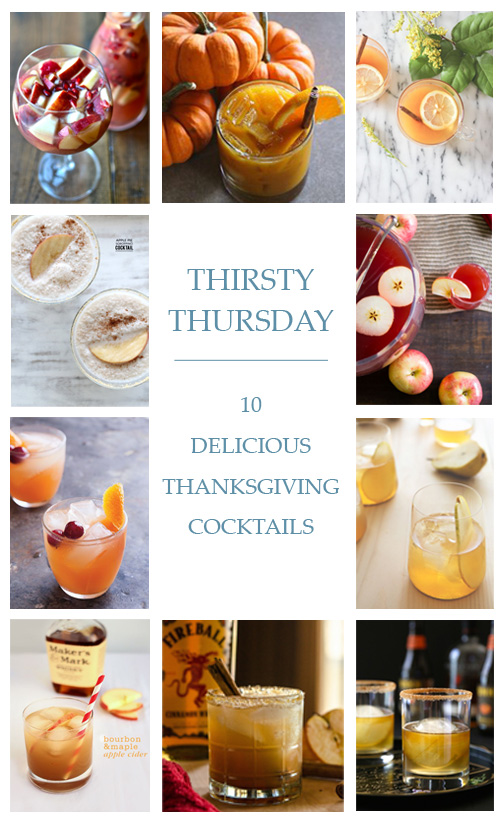 Thirsty Thursday: 10 Delicious Thanksgiving Cocktails