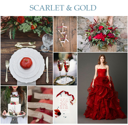 Wedding Wednesday: Scarlet & Gold Wedding Inspiration