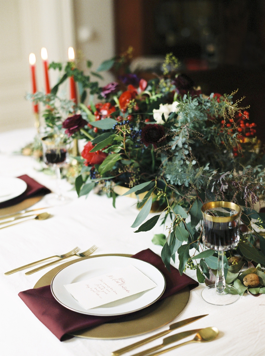 Christmas Wedding Inspiration from Melanie Nedelko