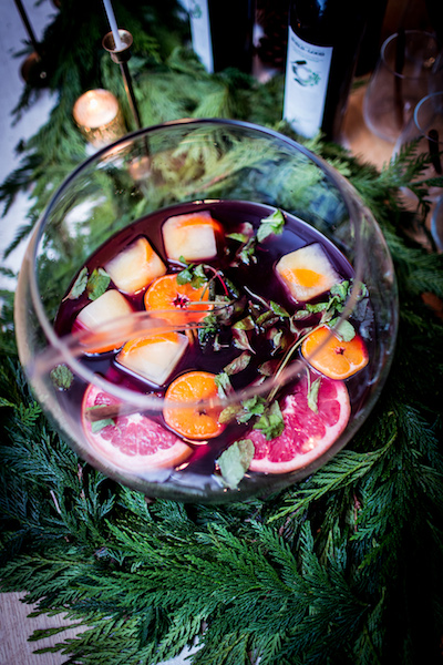 Christmas pomegranate punch