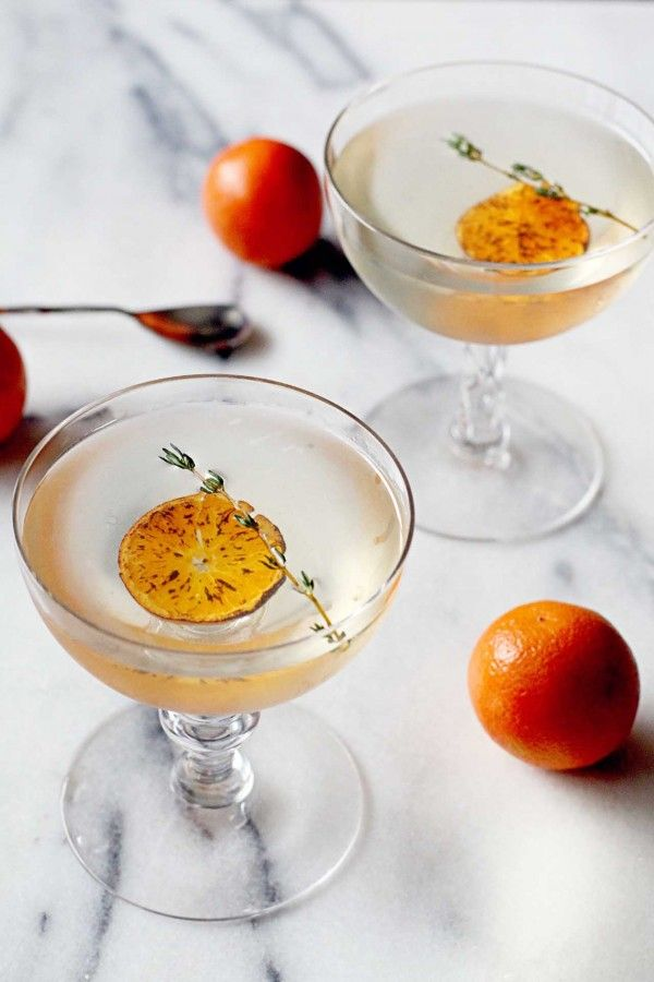 Charred Mandarin Martini