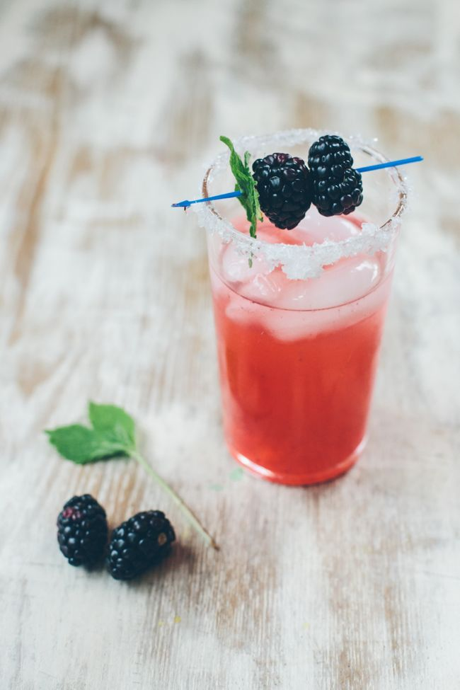Blackberry & Mint Margarita