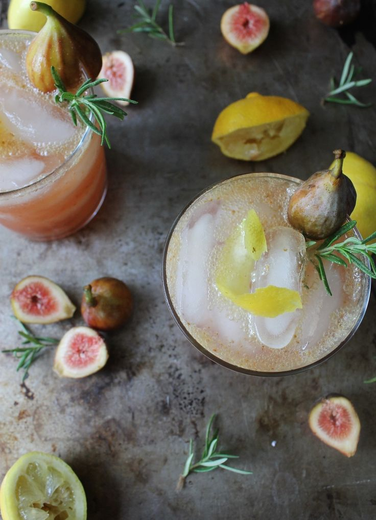 Sexy Fig & Lemon Fizz