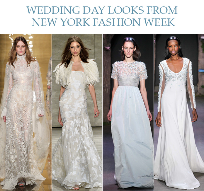 Wedding Day Looks from New York Fashion Week