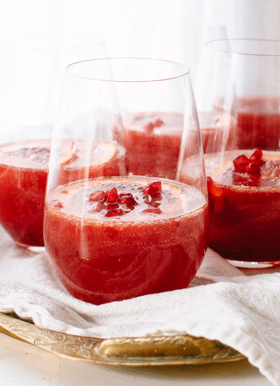 Blood Orange Pomegranate Sangria