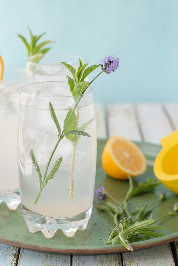 Meyer Lemon Lavender Mojitos