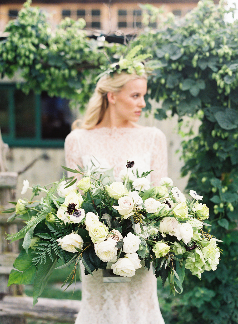Dark Botanical Wedding Inspiration - Lindsey Brunk
