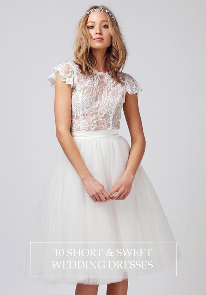 10 Short & Sweet Wedding Dresses - Lindsey Brunk