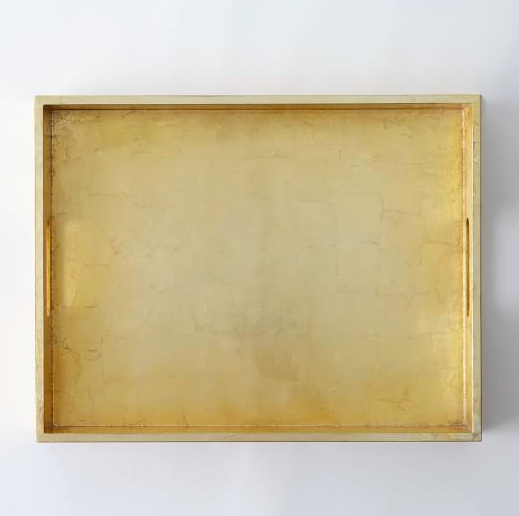West Elm Gold Lacquer Tray