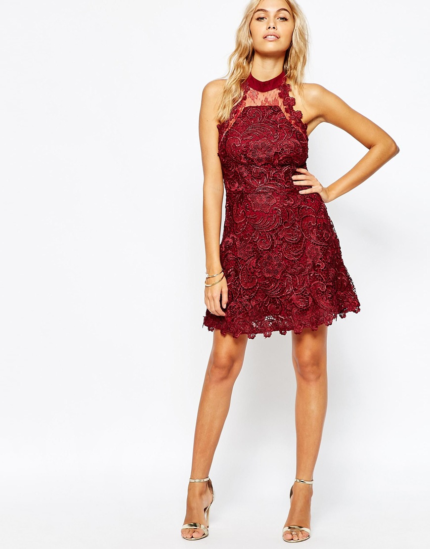 Asos Lace Skater Dress