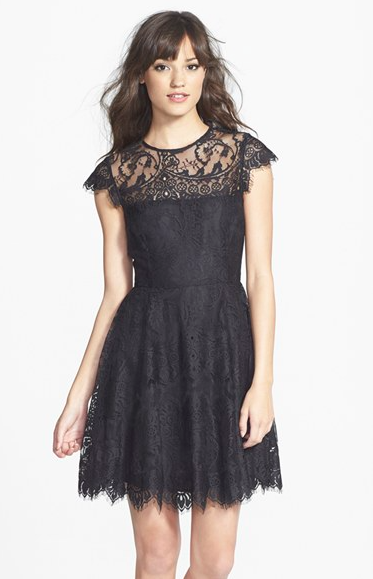 Nordstrom Lace Fit & Flare Dress