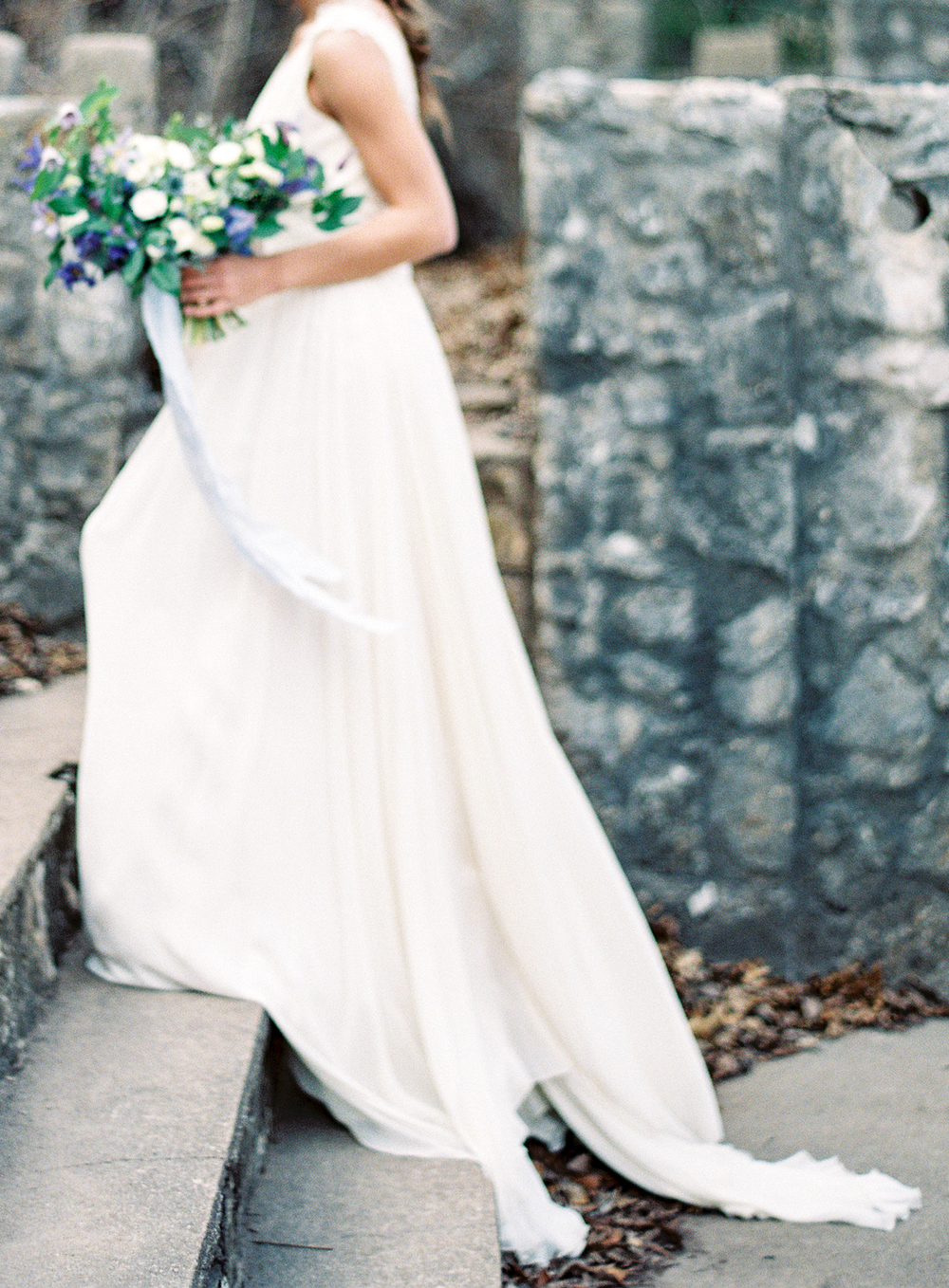 Winter Blues Wedding Inspiration - Lindsey Brunk