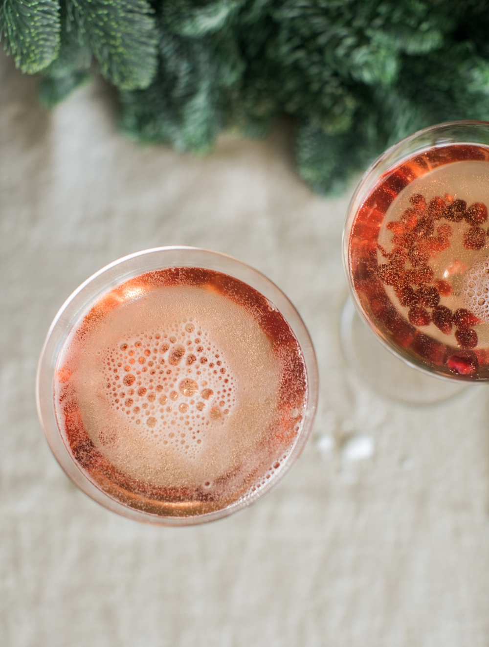 Vanilla Pomegranate Christmas Cocktail - Lindsey Brunk