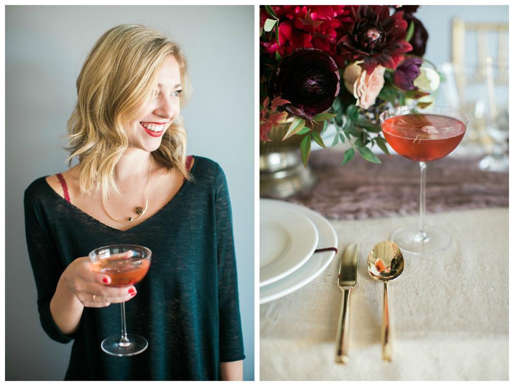 Vanilla Pomegranate Christmas Cocktail - Lindsey Brunk