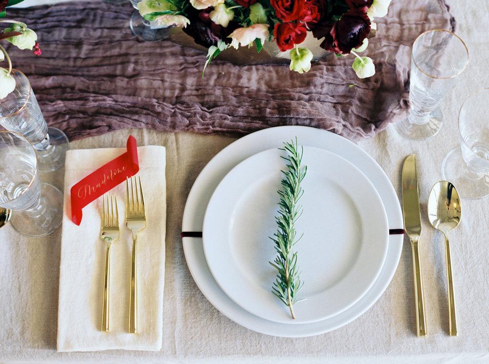 Festive Christmas Tablescape - Lindsey Brunk