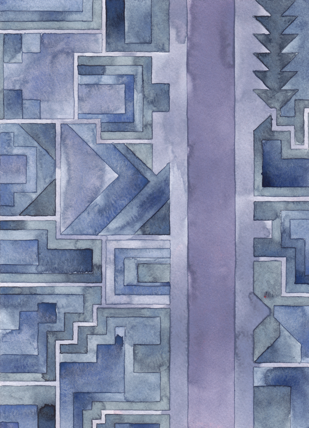 Cityscape 13,  2014 watercolor on watercolor paper 11 ¾ x 8 ½  inches
