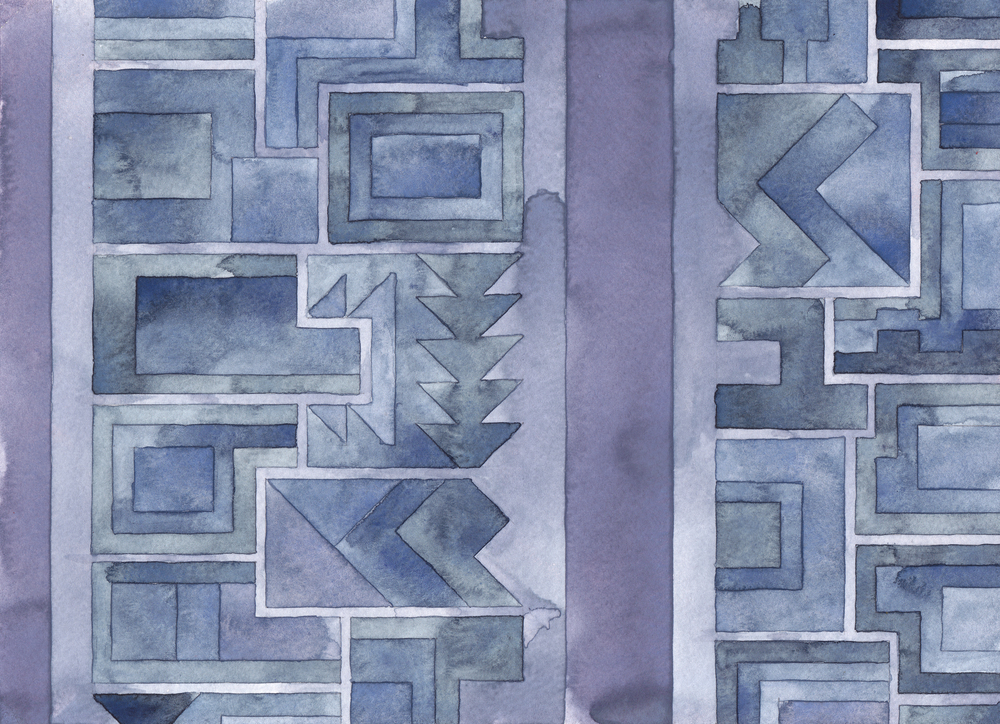 Cityscape 15,  2014 watercolor on watercolor paper 8 ½ x 11 ¾  inches