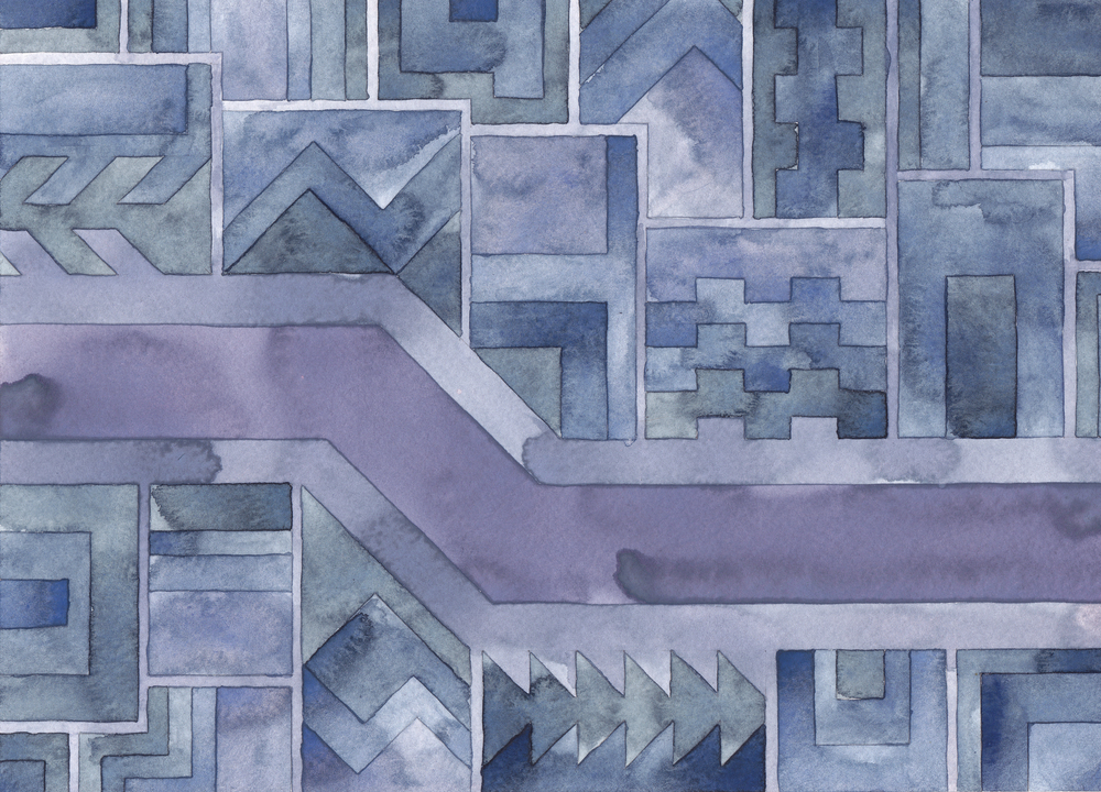 Cityscape 14,  2014 watercolor on watercolor paper 8 ½ x 11 ¾  inches